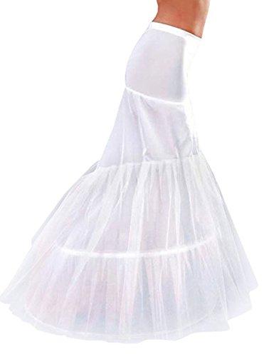 Petticoat Tails (Babydress® Brautkleid Reifrock Petticoat Unterrock Petticoat Reifrock Hochzeit Schwanz Petticoat Krinoline Hoopless Petticoat Unterrock für Brautkleid Petticoat Underskirt (Little Tail, Weiß))
