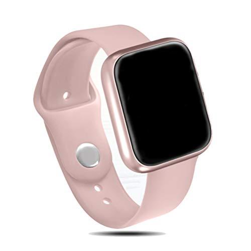 ZLOPV Pulsera Mujeres IP68 Reloj Inteligente a Prueba de Agua P68 Bluetooth 4.0 Hombres Smartwatch para Apple iPhone xiaomi Monitor de Ritmo cardíaco LG Fitness Tracker, Rosa