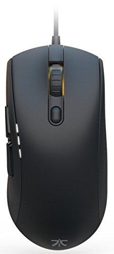 La souris Pro Gaming Fnatic CLUTCH 2 Esports (capteur optique Pixart de 12,000 CPI, 6 boutons, boutons de souris mécaniques, rétroéclairage multicolore LED (RGB), pour droitiers) - Noire