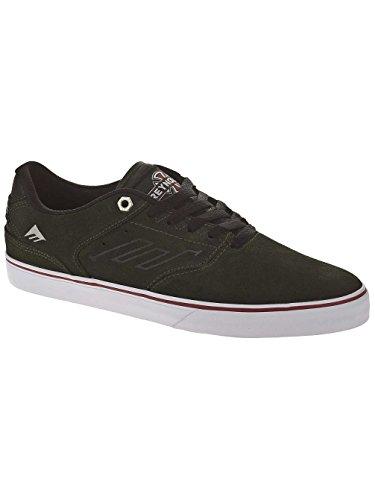Emerica Hsu - Zapatillas de skateboarding de ante para hombre negro Black/Dark Grey, color marrón, talla 39.5