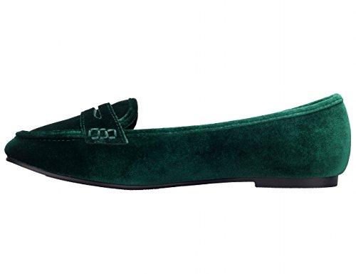 36 Greatonu Avevano Donna Piatto Mocassini Di 41 Camoscio Verde Scarpe 7pr786