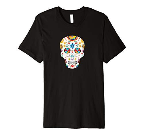 DAY OF THE DEAD Sugar Skull Dia de los Muertos Halloween Tee