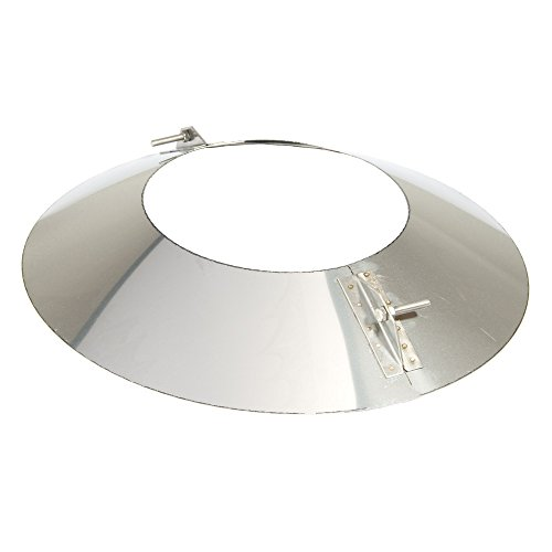 MK sp. Z o.o. Schornstein, Wandblende oval 2-teilig 15°, Edelstahl, ø 250 mm (310 mm) Edelstahl glänzend keine Farbe wählbar