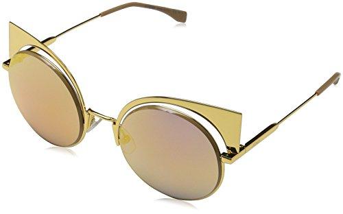 Fendi ff 0177/s oj 001, occhiali da sole donna, oro (gold), 57