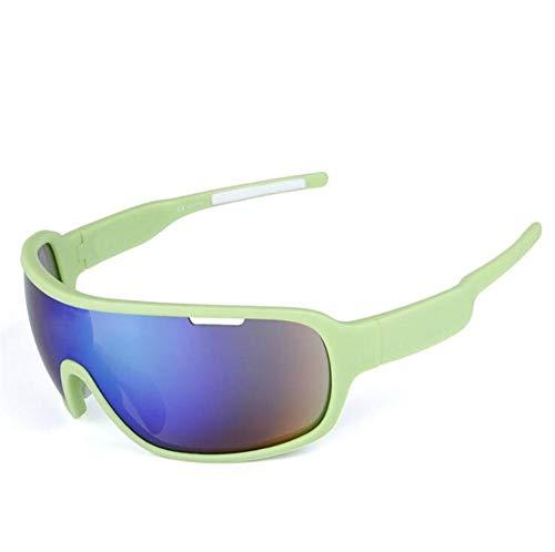Pkfinrd Extremsport-Sonnenbrille mit UV400-Schutz und unzerstörbarem Gestell für Herren Outdoor-Sportarten Angeln Skifahren Golf Laufen Radfahren Camping@Weiß grün