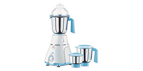 Bajaj GX 11 750-Watt Mixer Grinder with 3 Jars (White/Blue)