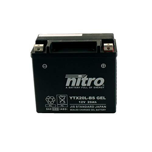 Batterie 12V 18AH YTX20L-BS Gel Nitro 51891 FLSTNI Softail Deluxe 05-06