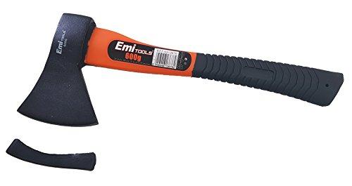takestop® Axt mit Klingenschutz Eispickel Axt Beil Holzspalter spaltet Kaminholz 600gr mit Griff Gummi PVC Maurer Piccozzino