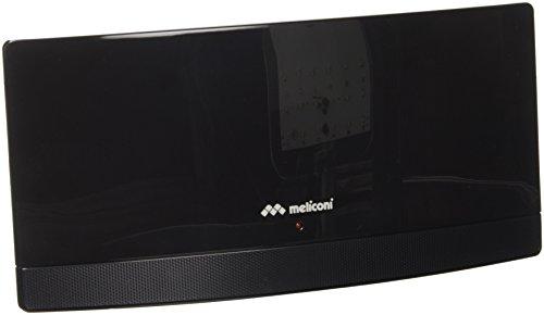 Meliconi AT 55 Antenna TV amplificata per interni, colore nero, filtri per evitare interferenze dei segnali 4G/LTE, design ultrasottile ed elegante