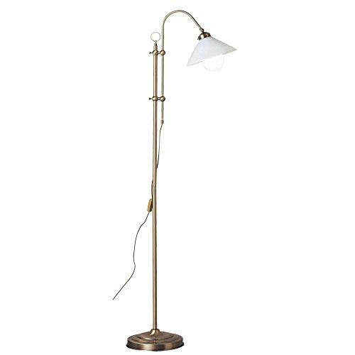 Steh Leuchte Wohn Raum Stand Bogen Lampe im Set inklusive LED Leuchtmittel -