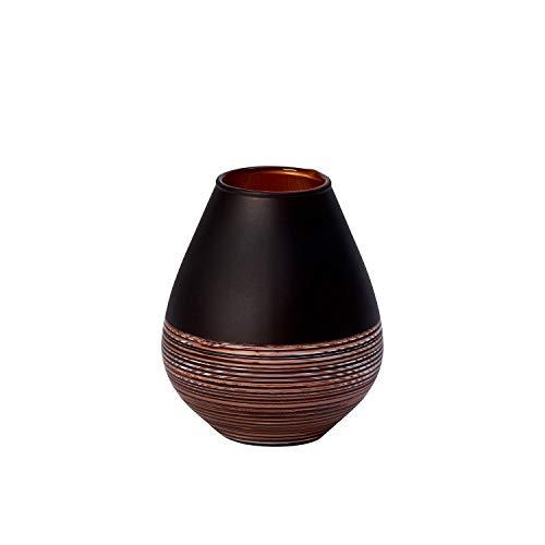 Villeroy & Boch Manufacture Swirl Vase Soliflor, 12,2 cm, Kristallglas, Schwarz/Bronze - Villeroy Boch Vasen