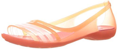 CROCS - Sandaletten ISABELLA Huarache Flat - coral, Größe:39-40 (Jelly-ballerinas)