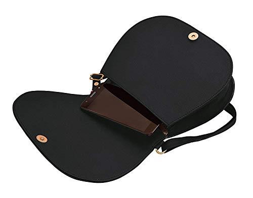 BFC- Buy for change Fancy Stylish Elegant Women's Cross Body Sling Bag (Dark Black)