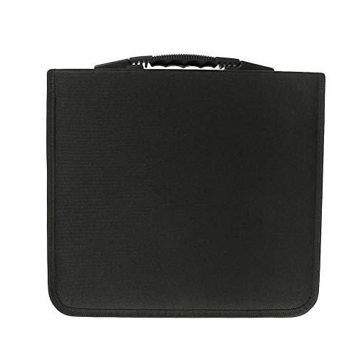 Vosarea Tragbare CD DVD Speicherorganisator 320 Disc Wallet Holder Tragetasche Tasche (schwarz) -