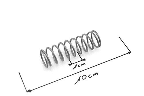 Druckfeder 1,5 x 16,5 x 52,5 Edelstahl, Feder Spiralfeder, Spring, Dämpfer (Spiralfeder Edelstahl)