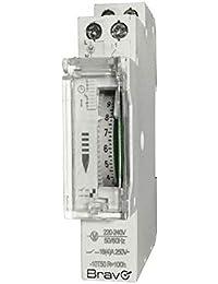 Bravo Orologio meccanico Timer per quadri elettrici DIN 230V, modello 93003222
