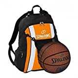 Spalding Basketball Rucksack orange/schwarz mit Ballnetz