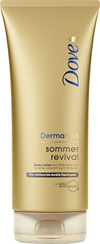 Dove DermaSpa Sommer Revival dunkel Body Lotion, 2er Pack (2 x 0.2 l)