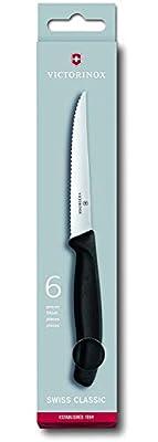 Victorinox steak Swiss Classic Knife-Set, Stainless Steel, Black, 30 x 5 x 5 cm