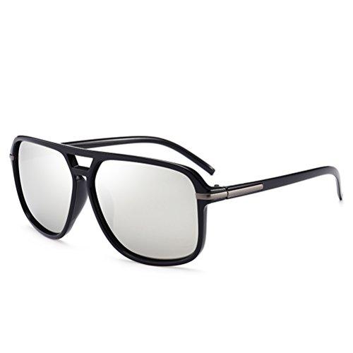 Memoryee Retro polarisierte Sonnenbrille Sportbrille für Männer und Frauen Metallrahmen Ultra Light Grau