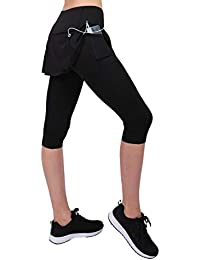 Honofash Falda Pantalón Tenis Mujer Deporte Running Ropa Padel Leggins Deportivas S M L XL Golf