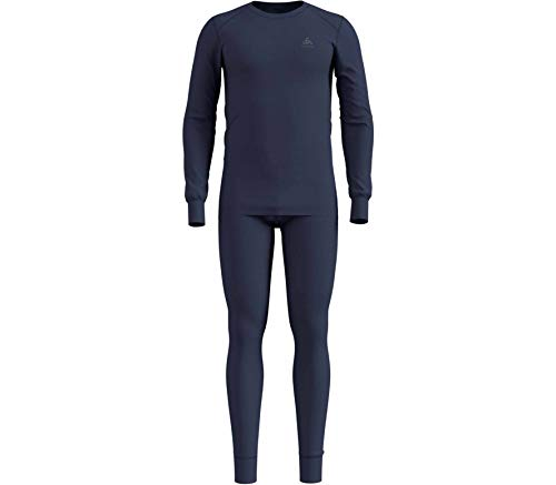 Odlo Herren Set Active WARM Bekleidungsset, Diving Navy, L