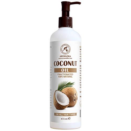 Fraktioniertes Kokosöl 480ml - Cocos Nucifera Oil - 100% Reines & Natürliches Coconut Öl - Basisöl - Flüssig - Geruchlos - Intensive Pflege für Haare - Kosmetik -