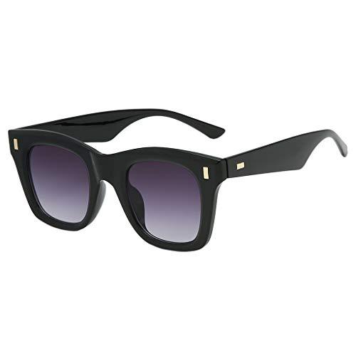 iCerber sonnenbrillen Süß Schöne Verspielt Damen Mode Maske Sonnenbrille integrierte quadratische Breite Brille UV 400 ❀❀2019 Neu❀❀(Mehrfarbig)