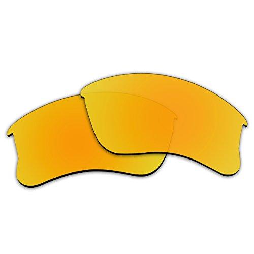 ACOMPATIBLE Ersatzgläser für Oakley Flak Jacket XLJ Sonnenbrille, Herren, Gold - Polarized, Small