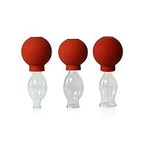Lauschaer Glas 3er Schrpfglas Set Mit Ball 10 15 20mm Zum Professionellen Medizinischen Feuerlosen Schrpfen Mundgeblasen Handgeformt Schrpfglas Schrpfglser Original
