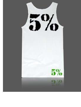 Rich piana 5%  nutrition kill it love it-débardeur-blanc/noir-m