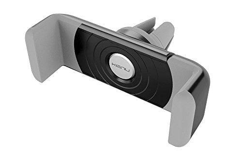 Kenu Airframe Lüftungs Halterung für Smartphones (min. 55mm / max. 73mm Breite) - schwarz/grau [360° Drehbar | Gummierte Haltebacken | Patentierte Technologie | Standfunktion] - AF1-KK-AP Iphone 4s Lautsprecher-case