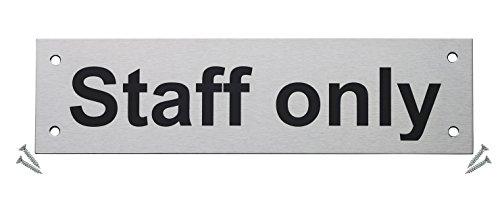 Fire Door Guru/® Private Door Sign VAT Registered Stainless Steel Safety Sign Fixings Included 76mm Disc