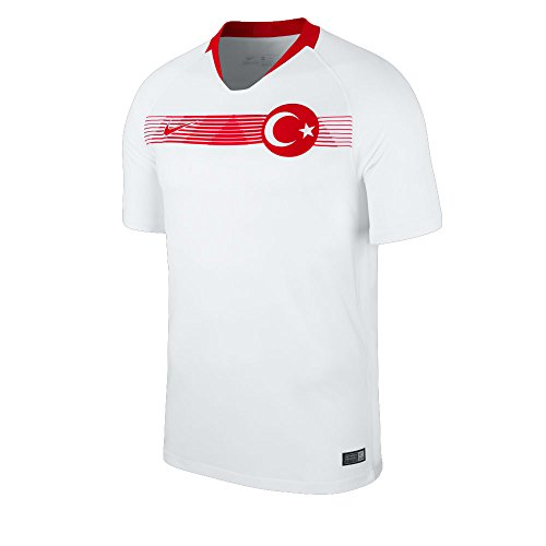 Nike Herren Breathe Turkey Stadium SS Trikot, White/University Red, M