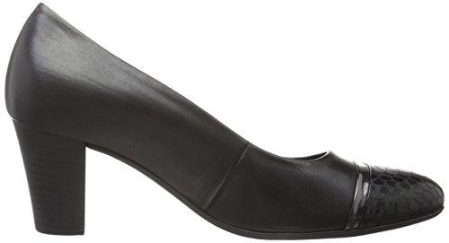 Gabor Comfort Fashion, Escarpins Femme Multicolore (Schwarz/Steel 67)
