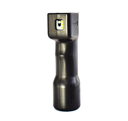 Plegium Combo Pepper Spray Pfefferspray Strobe Alarm Tierabwehrspray, Farbe:schwarz