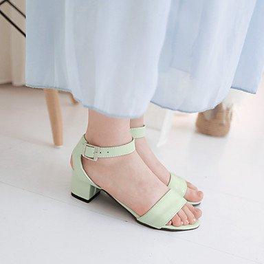 LvYuan Da donna-Sandali-Ufficio e lavoro Serata e festa Formale-Altro-Quadrato-PU (Poliuretano)-Verde Rosa Bianco Pink