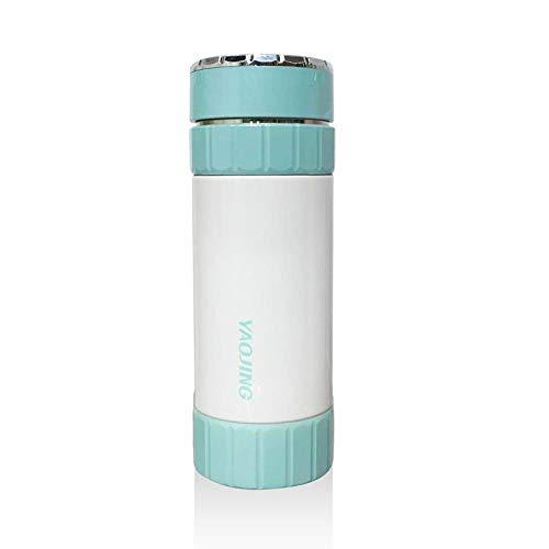 Light Blue Plastic Bowls (Stainless steel vacuum ceramic liner mug Flask, light blue, 300mL insulation performance: 0-6 hours)