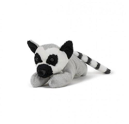 (Stofftier Katta 13 cm, Pettie, Kuscheltier, Plüschtier, Lemur Affe Affen)