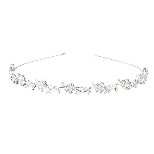 TOOGOO(R) Bandeau Diademe de Strass Forme de Fleurs et Feuilles Bijoux pour Mariee de Noce Soiree Mariage