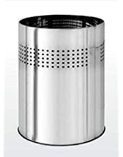 """INVOSS Stainless Steel Perforated Round Open Dustbin for Home, Office, Kitchen, Bathroom (8"""" X 10"""")"""