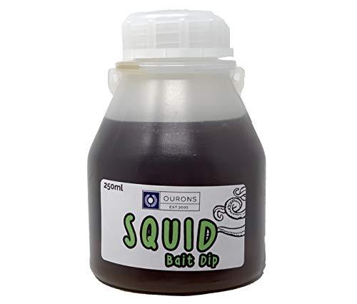 Ourons Squid Dip Bait Glug - Carp Fishing Bait Liquid 250ml