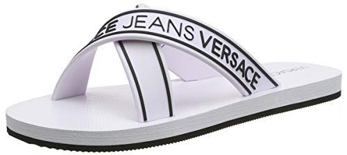 VERSACE JEANS COUTURE Herren Shoes Zehentrenner, Weiß (003+899 Mbx), 44 EU