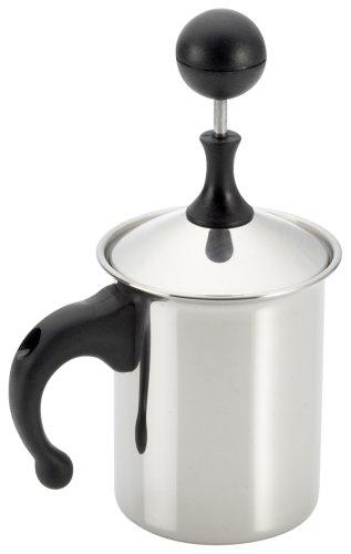 3 Creamer (Frabosk Montalatte Cappuccino Creamer, zu 3 Tassen, Stahl, 8 cm)