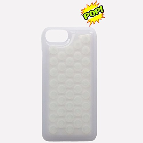 Price comparison product image IPhone 7 case HHYCT Funny Popping Decompression Bubble Wrap Back Soft Silicone Case Cover for iPhone 7 4.7 Inch (White)