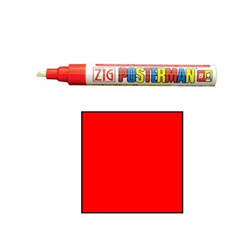 Securit Zig Poster Man marqueur à Craie Pointe Rouge, d'autres, Blanc, 9 x 12 x 10 cm