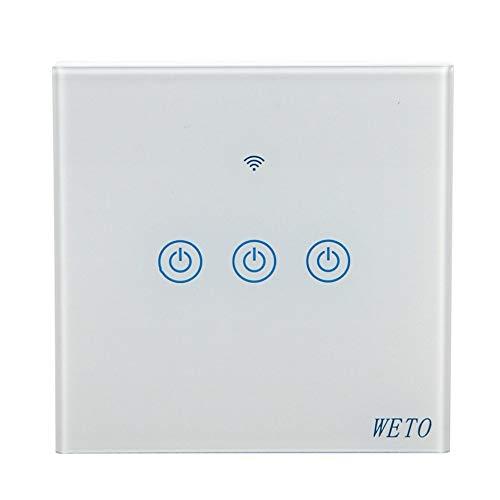 Preisvergleich Produktbild WEIWEITOE-DE T13Smart Light Switch Wi-Fi Wall Switch Touch Switch Panel Remote Control In-Wall Installation No Hub Required Wireless Switch
