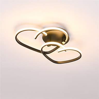 YAMEIJIA Lichter 2-Light Flush Mount Lichter Ambient Light Painted Oberflächen Metal Silica Gel, Lovely AC100-240V Warm White/White Video-flush Mount