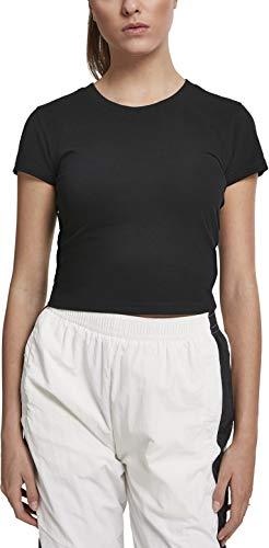 Urban Classics Damen Ladies Stretch Jersey Cropped Tee T-Shirt, Schwarz (Black 00007), X-Small (Herstellergröße: XS) (Schwarzes Cropped Shirt)