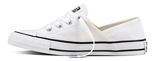 Converse Damen Chuck Taylor All Star Coral Sneaker Weiß (White/Black/White)
